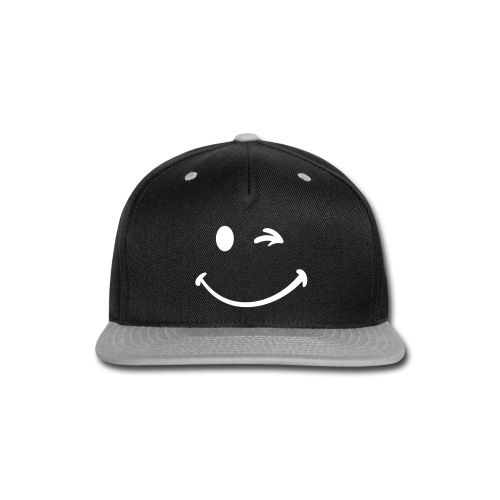 Smiley Hat - Snap-back Baseball Cap