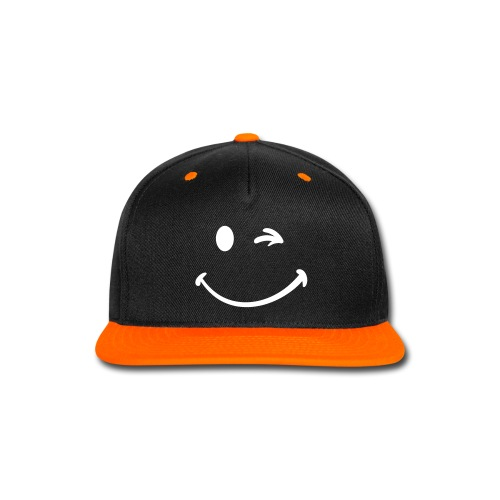 Smiley Hat - Snap-back Baseball Cap