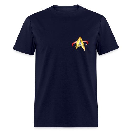 Men's Standard T-shirt (new USS Angeles mission logo on back) - Men's T-Shirt