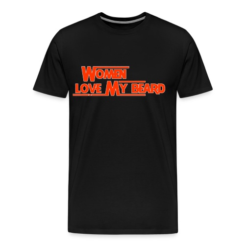 Women Love My Beard-Orange - Men's Premium T-Shirt