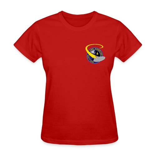 Women's T-shirt (starship orbiting scene on back) - Women's T-Shirt