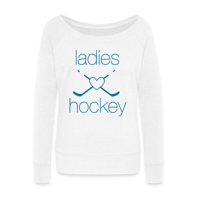 Ladies Heart Hockey- Wideneck Sweatshirt