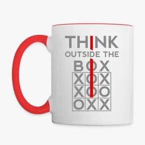 Think Outside The Box - Contrast Coffee Mug