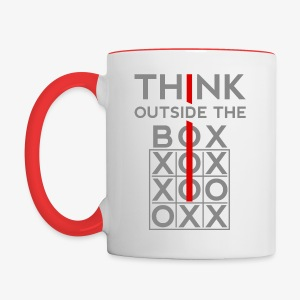 Think Outside The Box - Contrast Coffee Mug