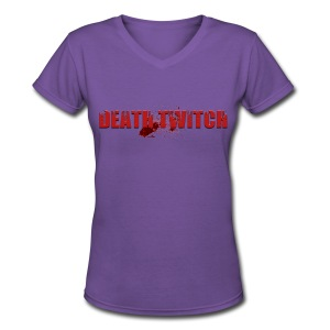 Women's simple Death Twitch shirt - Women's V-Neck T-Shirt
