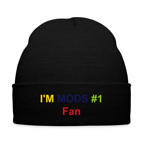 Mods #1 Fan Cap - Knit Cap with Cuff Print