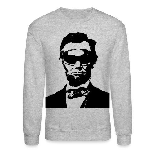 Ski Bum Abraham Lincoln Pullover Sweatshirt - Crewneck Sweatshirt