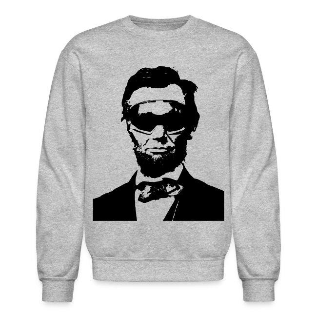 Ski Bum Abraham Lincoln Pullover Sweatshirt