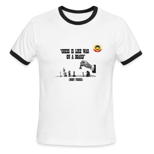 Chess is Like war - Men's Ringer T-Shirt
