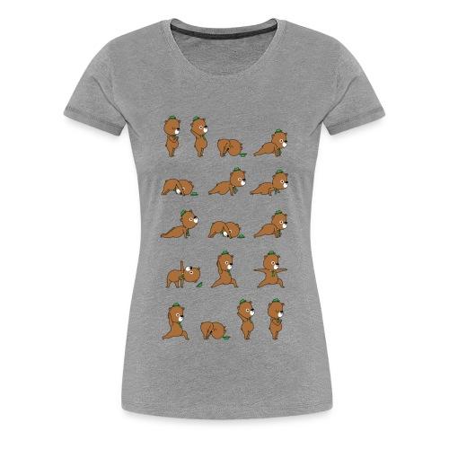 Yoga Bear - Women's Premium T-Shirt