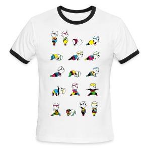 Yoga Bear - 80's Remix - Men's Ringer T-Shirt