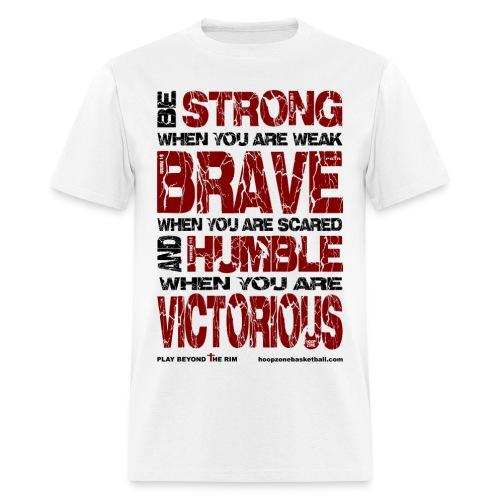 BE STRONG w/dark art 2 sides - Men's T-Shirt