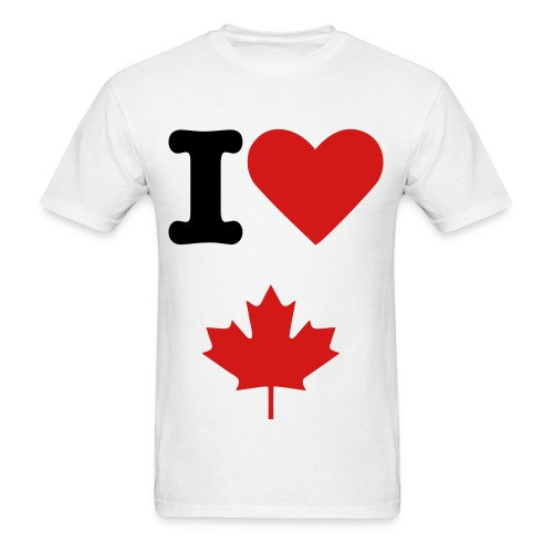 I Love Canada T-Shirt - Men's T-Shirt