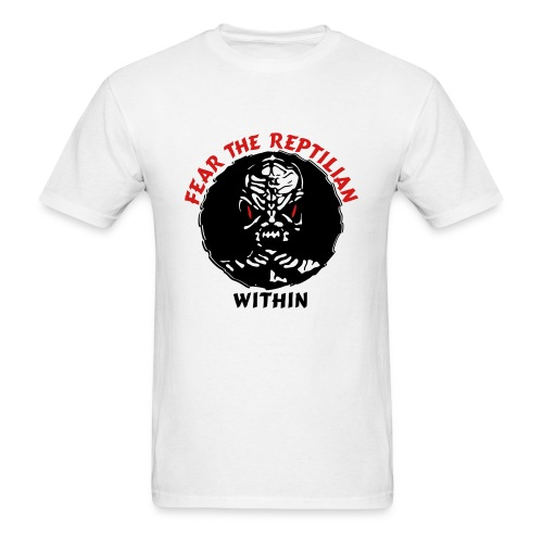 Fear the Reptilian Within - Men's T-Shirt