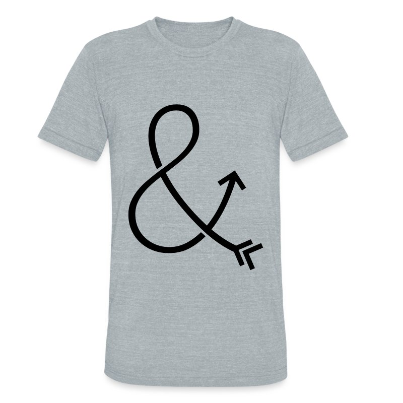 Ampersand & Arrow - Unisex Tri-Blend T-Shirt by American Apparel