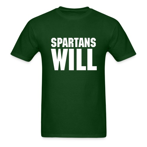 Spartans Will - Men's T-Shirt