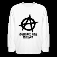 Kids' Shirts ~ Kids' Long Sleeve T-Shirt ~ Kids Punk 'Anarchy Has Arrived' Shirt