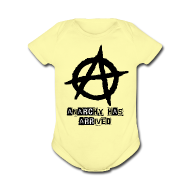 Baby Bodysuits ~ Baby Short Sleeve One Piece ~ Baby   Punk 'Anarchy Has Arrived' Shirt