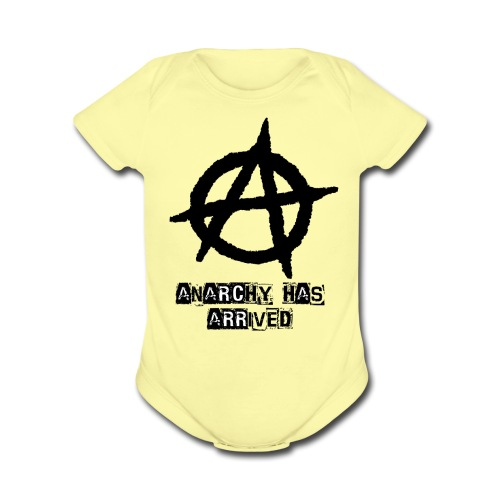 Baby   Punk 'Anarchy Has Arrived' Shirt - Organic Short Sleeve Baby Bodysuit