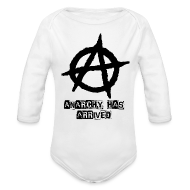 Baby Bodysuits ~ Baby Long Sleeve One Piece ~ Babies Long sleev   Punk 'Anarchy Has Arrived' Shirt