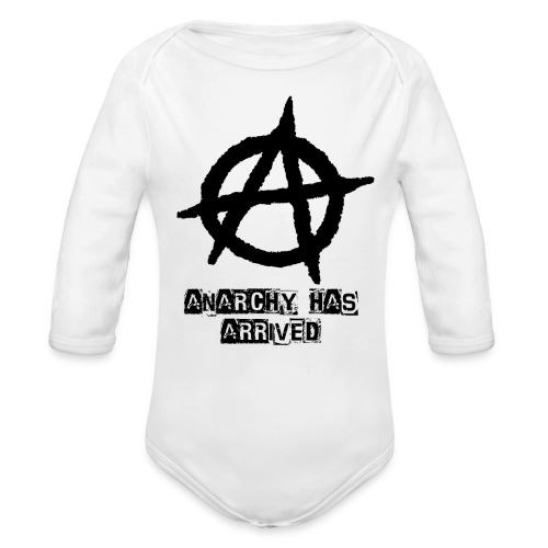 Babies Long sleev   Punk 'Anarchy Has Arrived' Shirt - Organic Long Sleeve Baby Bodysuit