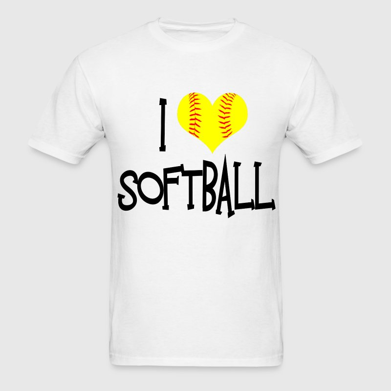 I Love Softball T-Shirts - Men's T-Shirt