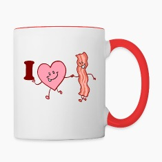 I heart bacon Mugs & Drinkware