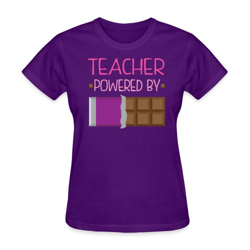 Powered by Chocolate - Women's T-Shirt