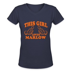 This Girl Love Tee - Women's V-Neck T-Shirt