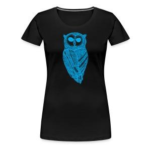 The Majestic Owl T-Shirt (Cyan) - Women's Premium T-Shirt