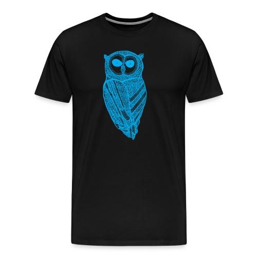 The Majestic Owl T-Shirt (Cyan) - Men's Premium T-Shirt