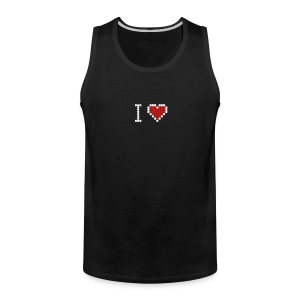 I love geek - Men's Premium Tank