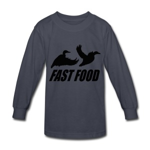 Fast food waterfowl  - Kids' Long Sleeve T-Shirt