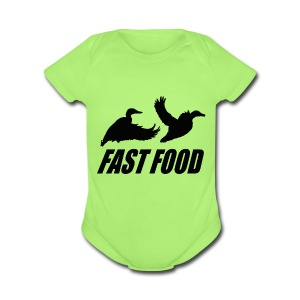 Fast food waterfowl  - Short Sleeve Baby Bodysuit