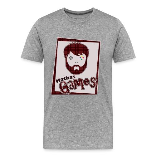 Mathas Games Full Logo Mens - Men's Premium T-Shirt
