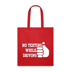 No Texting While Driving Tote - Tote Bag