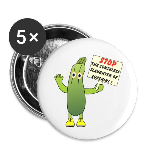 Save Zucchini - Large Buttons