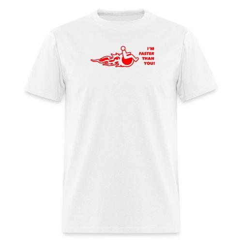 I'm faster than you - Men's T-Shirt