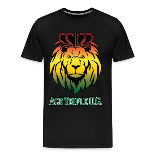 Boss Playa Ace Tripple OG LION Mens Premium T-Shirt - Men's Premium T-Shirt