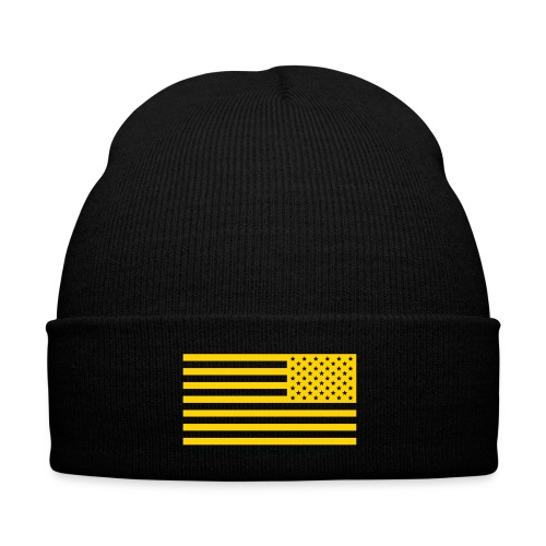 WW3 beanie - Knit Cap with Cuff Print