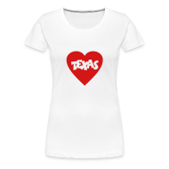 Women's T-Shirts ~ Women's Premium T-Shirt ~ I love Texas T-Shirt (Women)