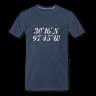 T-Shirts ~ Men's Premium T-Shirt ~ Austin Coordinates T-Shirt (Men Navy/White) Vintage