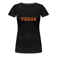 Women's T-Shirts ~ Women's Premium T-Shirt ~ Texas T-Shirt (Women Red/Gold)