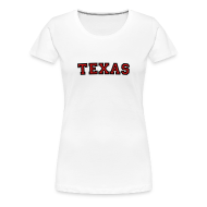 Women's T-Shirts ~ Women's Premium T-Shirt ~ Texas T-Shirt (Women Black/Red)