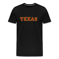 T-Shirts ~ Men's Premium T-Shirt ~ Texas T-Shirt (Men Red/Gold)