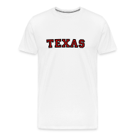 T-Shirts ~ Men's Premium T-Shirt ~ Texas T-Shirt (Men Black/Red)