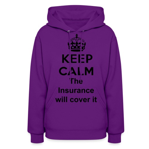 Womens Hooded Sweatshirt(Keep Calm) - Women's Hoodie