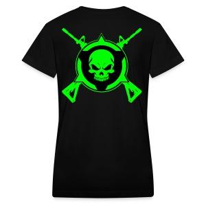 Skull 15 Crossed - Women's V-Neck T-Shirt