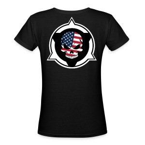 Rifle Logo/Skull 15 Warface - Women's V-Neck T-Shirt