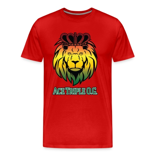 Boss Playa Ace Tripple OG LION Red 3XL Shirt - Men's Premium T-Shirt
